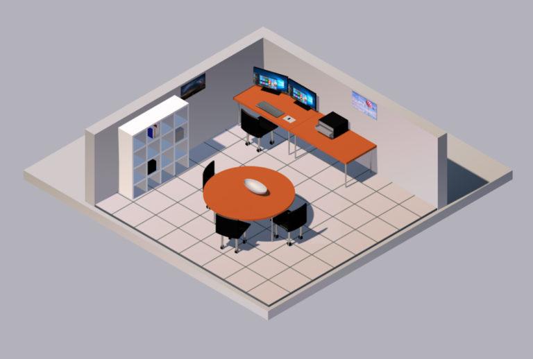 Isometrie Büro